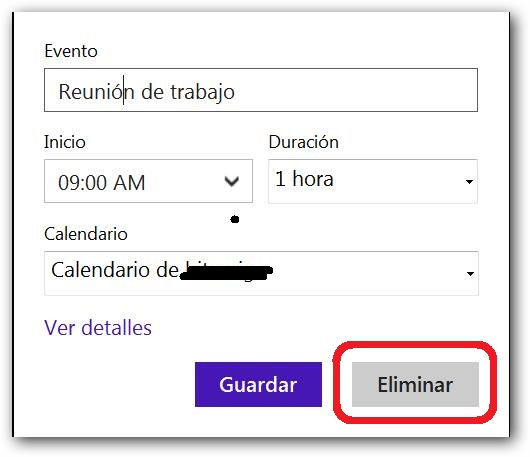 vincular calendario Outlook con bandeja de entrada