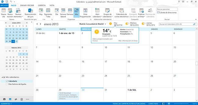 herramienta calendario
