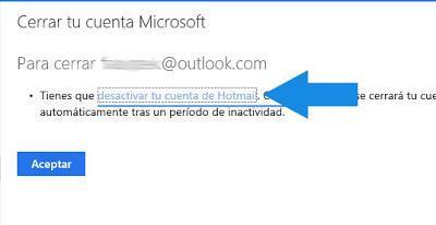 como desactivar cuenta Outlook