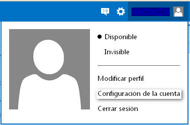 como configurar datos personales outlook