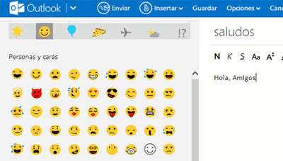 iconos y emoticones para outlook