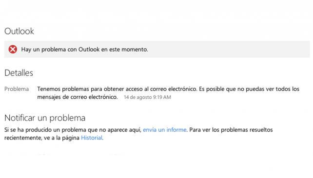 funcionamiento outlook