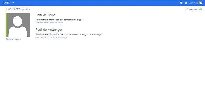 como cambiar editar perfil en Outlook