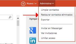 Outlook.com como volver a tener contactos borrados