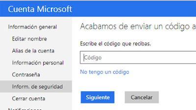 Outlook.com y seguridad para iniciar sesion
