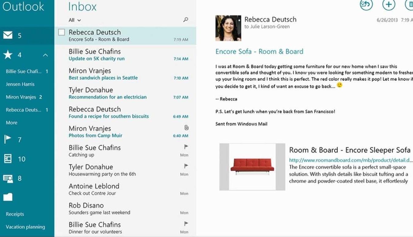app outlook y windows 8