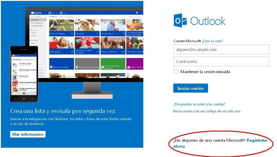 correo outlook y hotmail