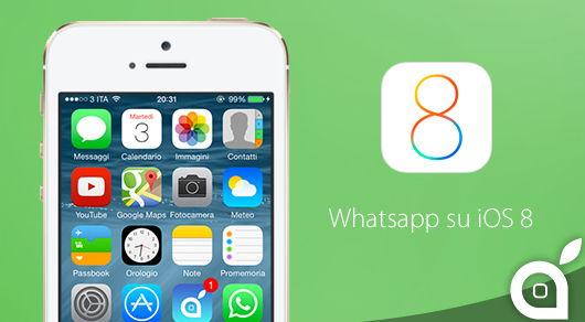 solucion problemas de whatsapp en ios8